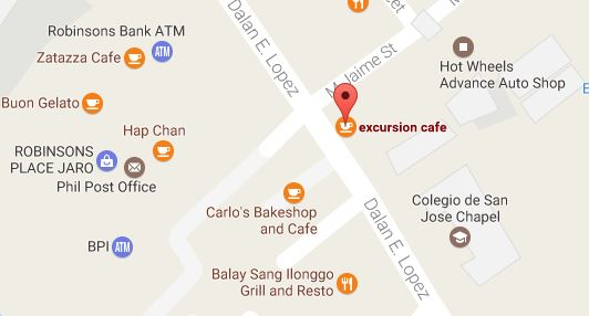 Excursion Cafe Map